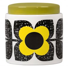 Orla Kiely Large Scribble Square Flower Storage Jar - Sunshine