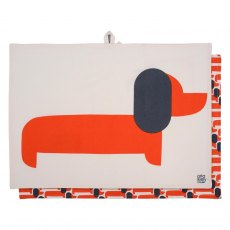 Orla Kiely Dachshund & Persimmon Tea Towels