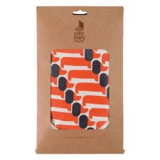 Orla Kiely Dachshund Persimmon Double Oven Glove