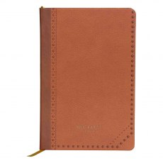 Ted Baker Brown Brogue Kiku A5 Notebook