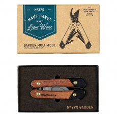 Gentleman's Hardware Garden Multi Tool, Wood & Titanium Finish