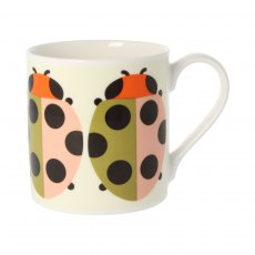 Orla Kiely Quite Big Lady Bug Tomato Mug
