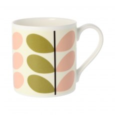 Orla Kiely Two Colour Stem Olive/Pink Quite Big Mug