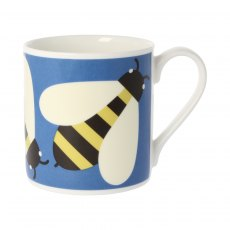 Orla Kiely Busy Bee Blue Quite Big Mug