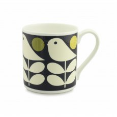 Orla Kiely Early Bird Dark Navy Quite Big Mug