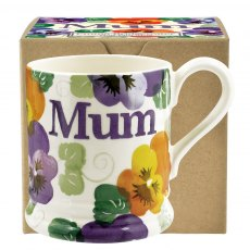 Emma Bridgewater Purple Pansy Mum 1/2 Pint Mug