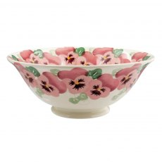 Emma Bridgewater Pink Pansy Medium Serving Bowl