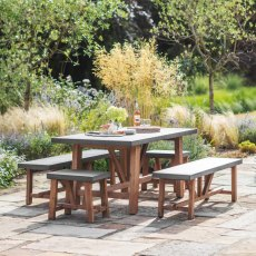 Chilson Table And Bench Set Indoor/Outdoor