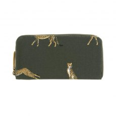 Sophie Allport Cheetah Oilcloth Zipped Wallet Purse