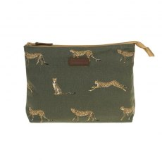 Sophie Allport Cheetah Large Canvas Wash Bag