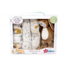GMILY Soft Toy With Muslin Gift Set