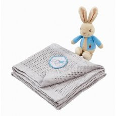 Peter Rabbit Soft Toy & Blanket Gift Set
