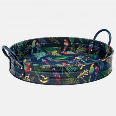 Sara Miller Tropical Parrots Large Tray