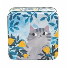 Planet Cat Medium Square Tin