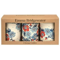 Emma Bridgewater Anemone Set of 3 Round Caddies
