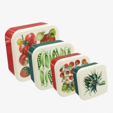 Emma Bridgewater Vegetable Garden Set of 4 Plastic Snack Tubs