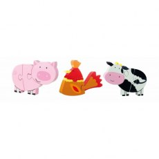 Farm Yard Wooden Mini Puzzle Set