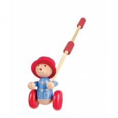 Paddington Bear Wooden Push Along Boxed