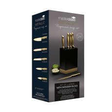Masterclass 5pc Burnished Brass Effect Knife Set