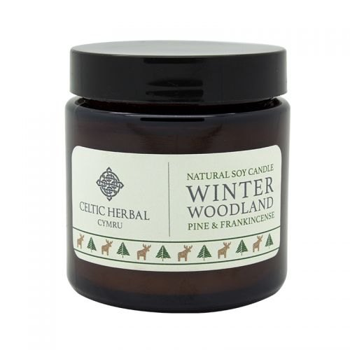 Celtic Herbal Cymru Winter Woodland Soy Candle with Pine & Frankincense