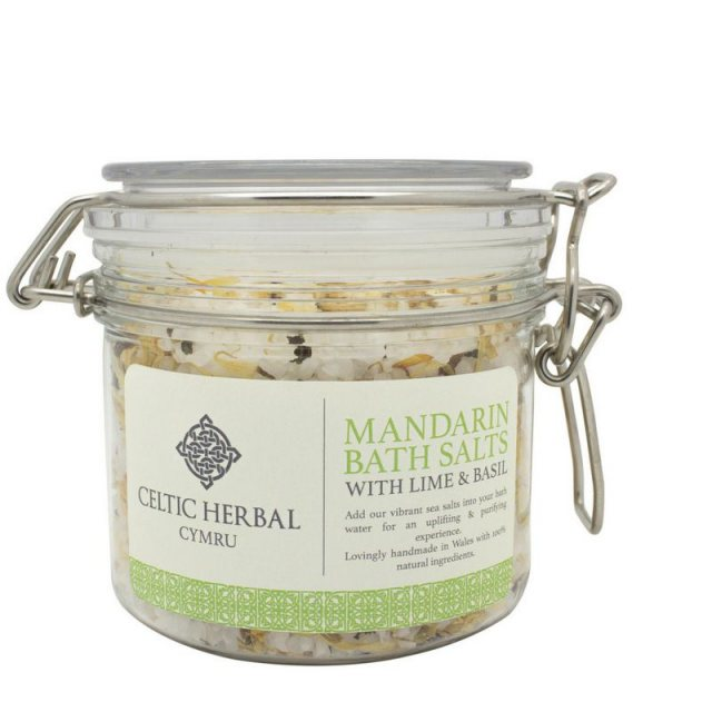 Celtic Herbal Cymru Mandarin Bath Salts with Lime & Basil 350g