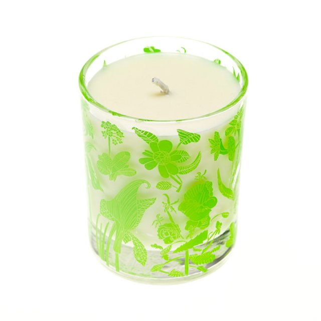 Arthouse Unlimited Laura's Floral Scented Organic Candle Wild Fig and Grape