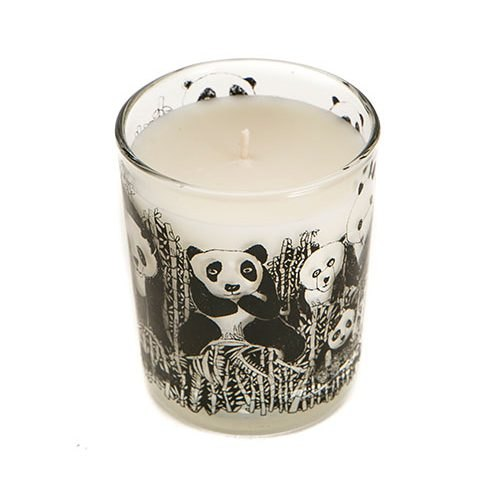 Arthouse Unlimited Panda Party Scented Organic Candle Bamboo and Olive Blossom