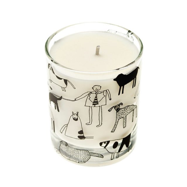 Arthouse Unlimited Dogs Scented Organic Candle Rhubarb and Ginger