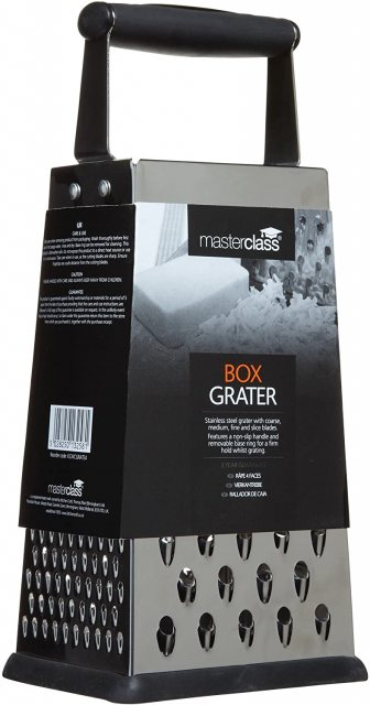 Masterclass Stainless Steel 4 Sided Box Grater 24cm