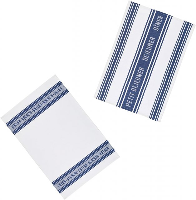 KitchenCraft KC S/2 Tea Towels Jaquard