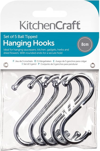 Chrome Plated Hanging S Hooks 80mm