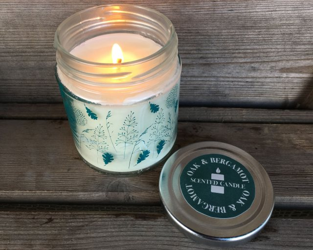 Oak & Bergamot Jam Jar Candle