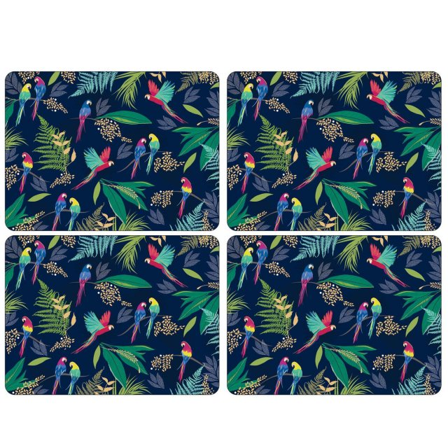 Sara Miller London Sara Miller London Portmeirion Parrot Extra Large Placemats Set of 4