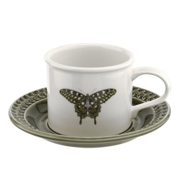 Portmeirion Hamrony Breakfast Cup & Saucer Forest Green