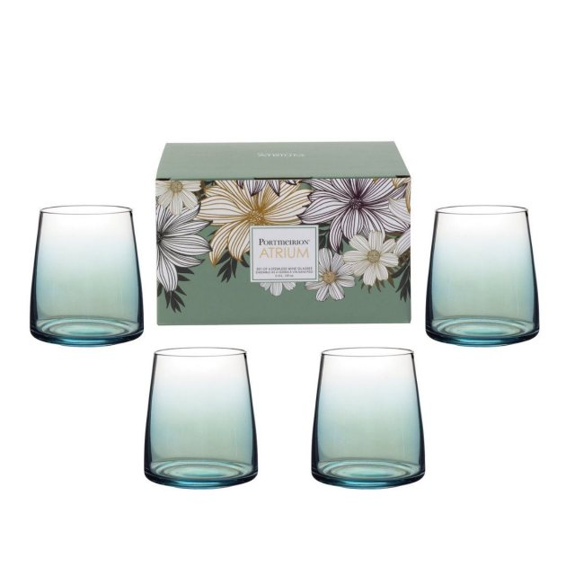 Portmeirion Portmeirion Atrium Stemless Wine Glass Set of 4