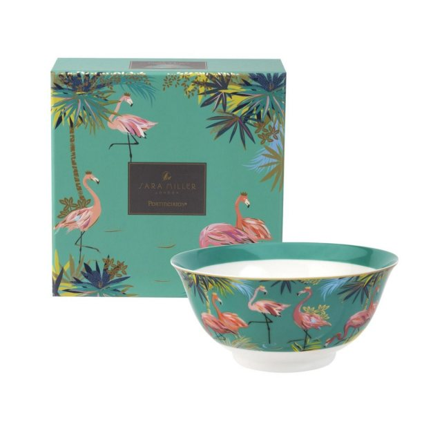 Sara Miller London Sara Miller London Portmeirion Tahiti Candy Bowl Flamingo