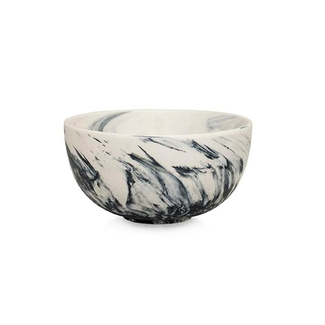 Grey Marble Cereal Bowl