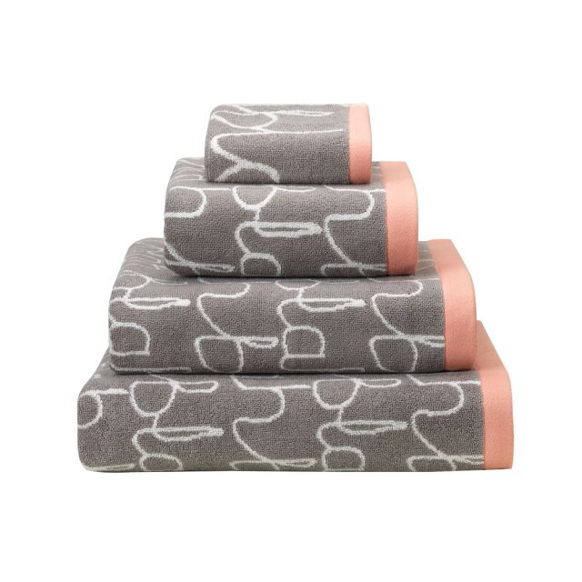 Donna Wilson Blah Blah Towels – Grey