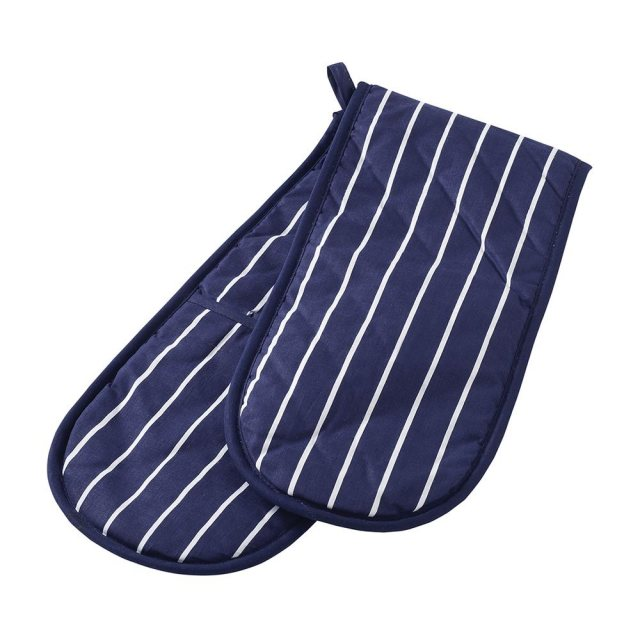 Stow Green Butcher's Stripe Double Oven Glove