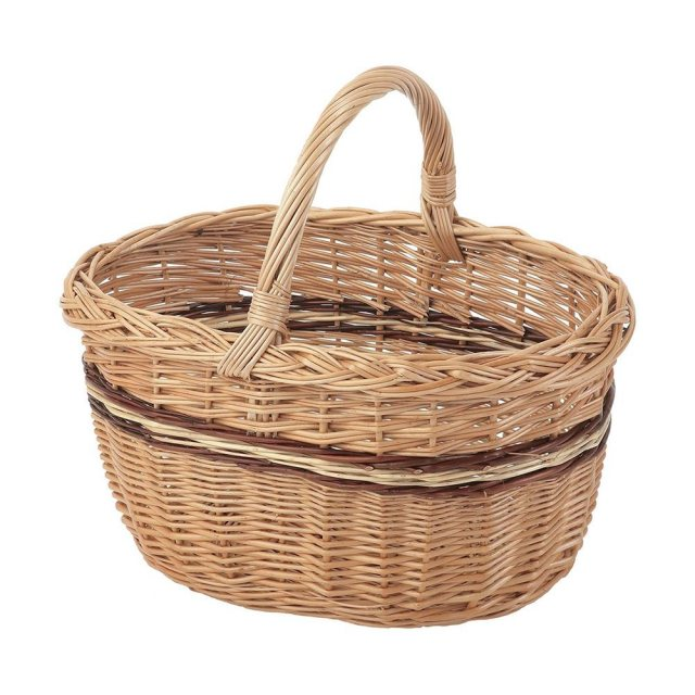 Stow Green Oval Hand Basket