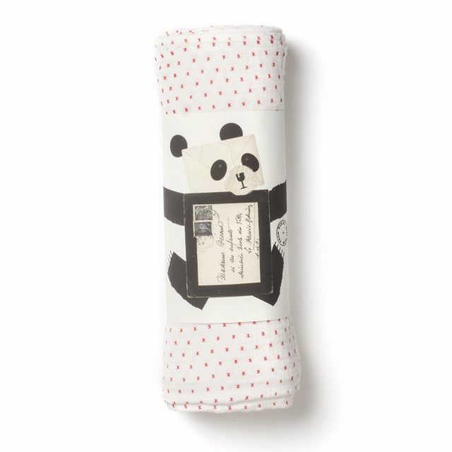 From Babies with Love Little Kisses Organic Muslin Swaddle