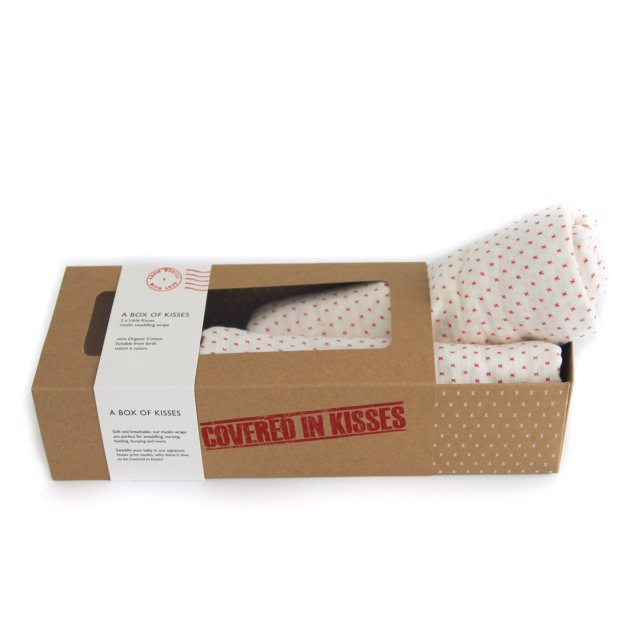 From Babies with Love A Box Of Kisses - Little Kisses Organic Swaddles