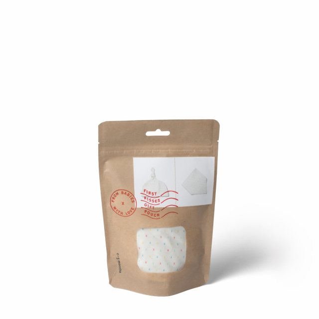 From Babies with Love First Kisses Organic Gift Pouch - Mini 3 - 6 Months