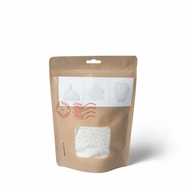 From Babies with Love First Kisses Organic Gift Pouch - Large 3 - 6 Months