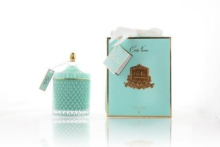 Cote Noire Cote Noire Grand Art Deco Candle Tiffany Blue