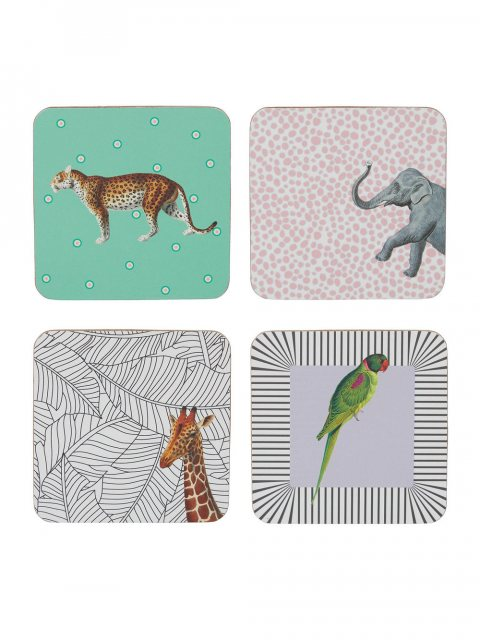 Yvonne Ellen Yvonne Ellen Animal Coasters, Set of 4