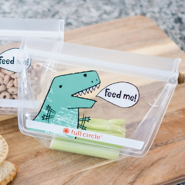 Full Circle Ziptuck Reusable Lunch Bags Dinosaurs