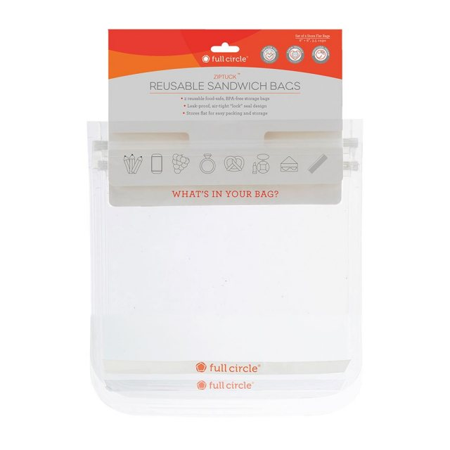 Full Circle Ziptuck Reusable Sandwich Bags Clear
