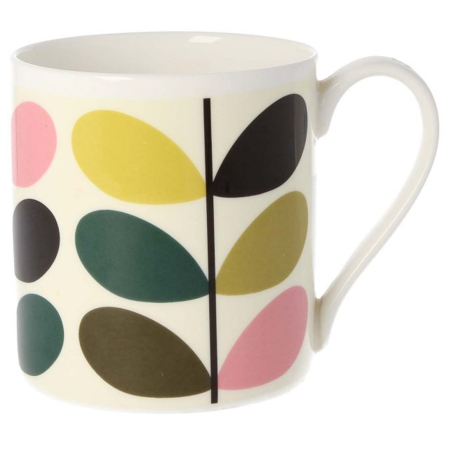 Orla Kiely Orla Kiely Multi Stem Bubblegum Quite Big Mug