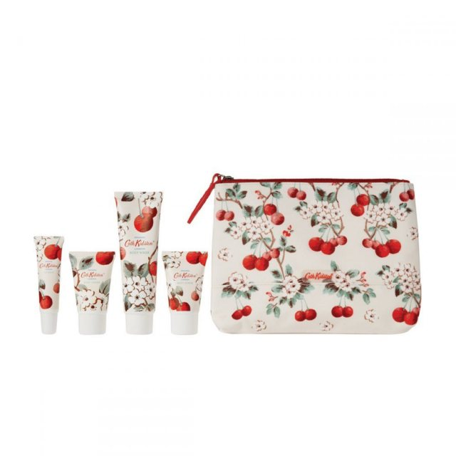 Cath Kidston Cath Kidston Mini Cherry Sprig Pamper Time Set